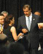 Elvira Arellano With Her Friend President Vicente Fox