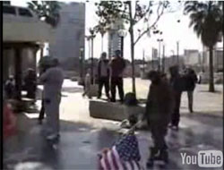 Illegal Alien Drags American Flag on the Ground