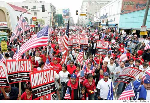 Illegal Aliens March Through LA