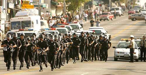 Riot Police In LA