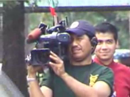 Traitorous NBC Cameraman With Mexican Flag