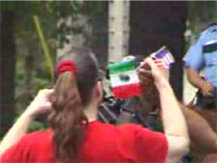 US Border Watch Puts Flag On Camera
