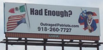 Outraged Patriots Billboard In Little Rock