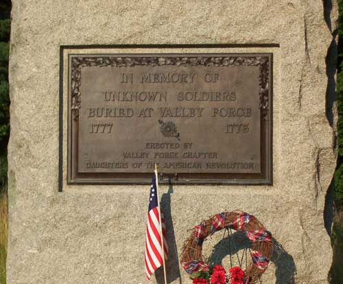 Valley Forge Unknowns Monument