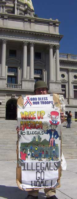 Harrisburg Immigration rally Jim