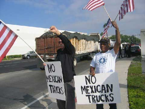 Raymond Herrera Protest Mexican Truck