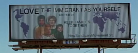 New Sanctuary Movement Billboard in Kansas City