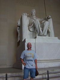 Digger at the Lincoln Memorial