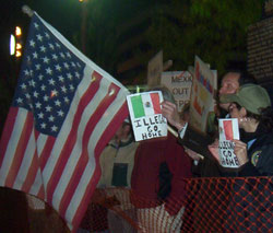 Wilkes-Barre Vicente Fox Protest American Flag