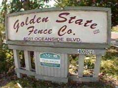 Golden State Fence Company Sign