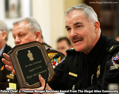 Police Chief Manger Receives Award from the Illegal Alien Community