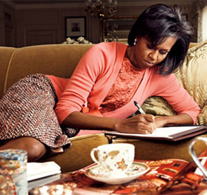 Vogue Michelle Obama Couch