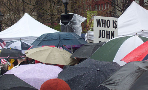 Philadelphia Tea Party Sign Who is John Galt