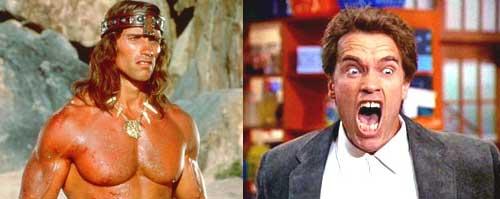 Schwarzenegger Conan or Kindergarten Cop