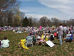 Washington Crossing Bucks County Tea Party Crowd Shots