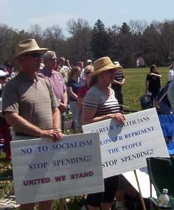 Washington Crossing Tea Party Sign