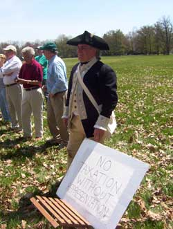 George Washington at Washington Crossing Tea Party