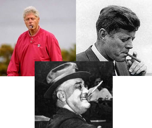 Clinton Kennedy Roosevelt Smoking