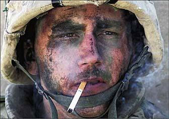 Soldier Smoking