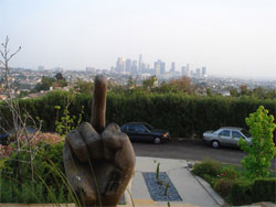 Dov Charney Sculpture Gives Finger To LA