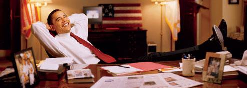 Obama Lounging