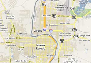 Map Laredo, Texas