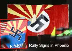 Arizona Nazi Rally Signs