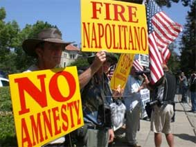 Californias Crusaders Pomona Napolitano Protest