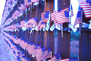 Border Fence Flags