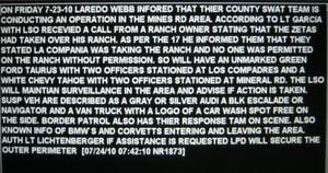Laredo Police Blotter Los Zetas Ranch Seizures