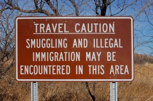 Smuggling Warning Sign