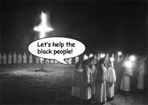 KKK Help Blacks